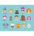 circus icons set vector image