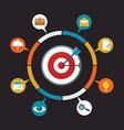 Flat design colorful concept for digital marketing vector image