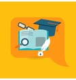 Flat design concept for education vector image