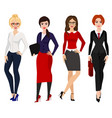 four elegant business women vector image