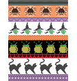 halloween pattern with spider spider web witch vector image