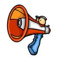 painted voice megaphone vector image