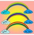 Rainbow Pop art vector image