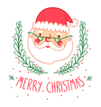 Santa card vector image