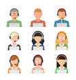 Set of flat style male and female vector image