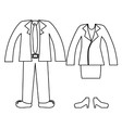 silhouette with formal suit clothing vector image