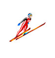 ski jump winter sports clipart vector image