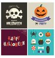 halloween design pack vector image vector image