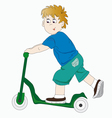 The boy on the scooter vector image