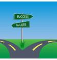 success failure signpost vector image vector image