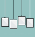 blank picture frame template hanging vector image vector image