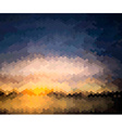 Mosaic Artistic Background of a Sunset vector image
