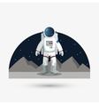 Astronaut sign space concept cosmos icon vector image