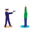 Criminal offender and Police officer vector image
