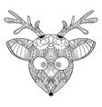Decorative ornamental reindeer vector image