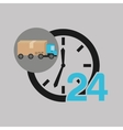 delivery truck concept service 24 hours vector image