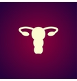 female uterus icon vector image