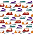 Seamless pattern colorful irons - vector image