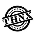 thnx rubber stamp vector image