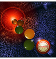 Christmas bingo ball and baubles background vector image