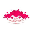 Abstract festive background with red hearts vector image