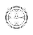 line clock symbol icon design vector image