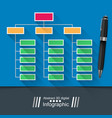 office infographic pin icon vector image