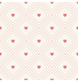Geometric seamless pattern with rhombus and hearts vector image