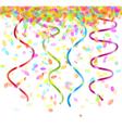 falling confetti vector image vector image