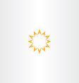 sun star yellow icon logo design vector image