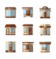 Storefronts flat color icons vector image