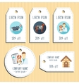 Pet clinic discount gift tags Ready to use Flat vector image