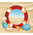 Summer icon with life buoy vector image vector image
