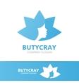 Beautiful woman logo design template vector image