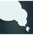 Speech Bubble with Crow of crow with big speech vector image