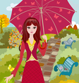 Autumn girl2 vector image