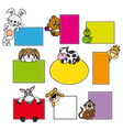 animal stickers vector image vector image