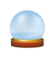 snow globe with winter landscape vector image