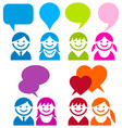 communicarion people icon set vector image vector image