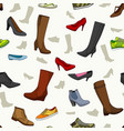 seamless pattern with women shoes vector image vector image