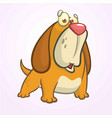 cute basset hound dog cartoon vector image