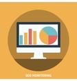 Seo Monitoring vector image vector image