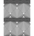 monochrome stripy endless pattern art continuous vector image vector image