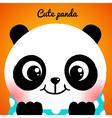 Cute little panda close-up vector image