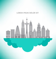 City Buildings Cloud vector image