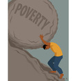 Endless struggle with poverty vector image