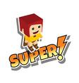 great superhero mom vector image