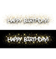 Happy birthday paper banners vector image