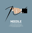 Needle In Hand vector image