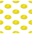 Seamless pattern gold coins vector image